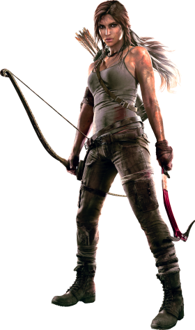 Lara Croft |  Tomb Raider  With Bow PNG