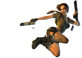 Lara Croft |  Tomb Raider  With Guns PNG