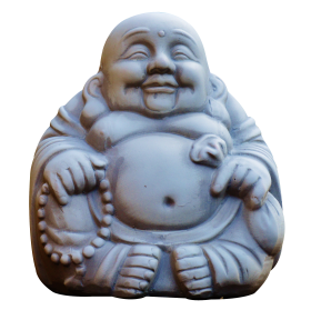 Laughing Buddha Monk PNG