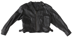 Leather Black Ladies Jacket PNG