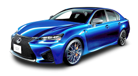 Lexus GS Blue Car PNG