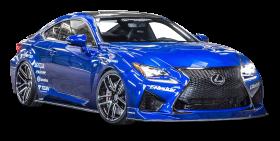 Lexus RC F Blue Car PNG