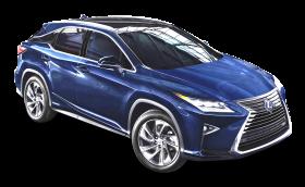 Lexus RX 450h Blue Car PNG
