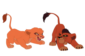 Two Lion Kings PNG