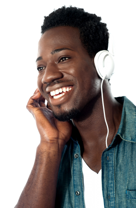 Listening Music PNG