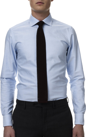 Llight Blue Dress Shirt Black Tie PNG