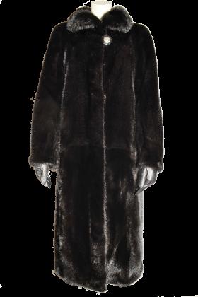 Long Black Fur Coat PNG