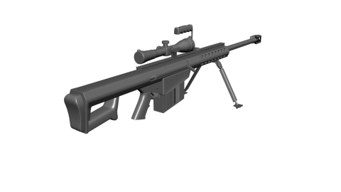 Low Poly Sniper PNG