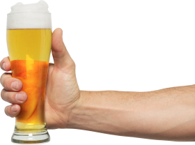 Man holding Beer PNG