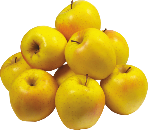 Many Yellow Apples PNG