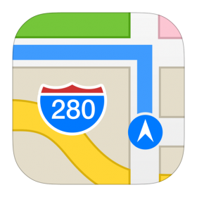 Maps Icon iOS 7 PNG