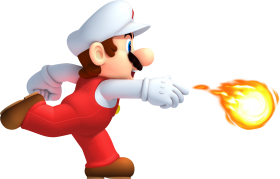 Mario Running Fire PNG