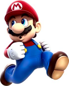 Mario Running PNG