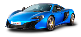 McLaren 650s Blue Car PNG