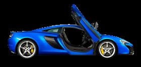 Mclaren 650s Coupe Blue Car PNG