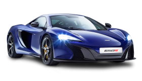 McLaren 650S Coupe Blue Car PNG