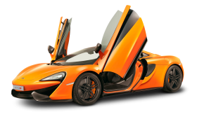 McLaren 650S GT Orange Car PNG