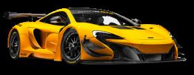 McLaren 650S GT3 Yellow Race Car PNG