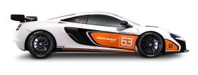 McLaren 675LT White Car PNG