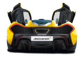 McLaren P1 Car Back View PNG
