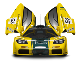 Mclaren P1 Gtr Front Car Yellow PNG