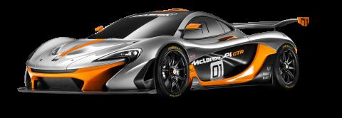 McLaren P1 GTR Race Car PNG