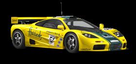 McLaren P1 GTR Yellow Sports Car PNG