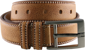 Men Formal Brown Genuine Leather Belt PNG