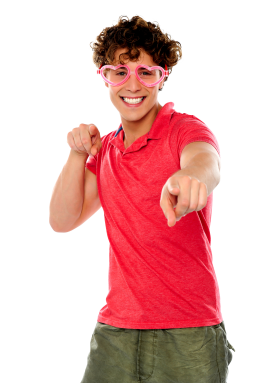 Men Pointing Front PNG