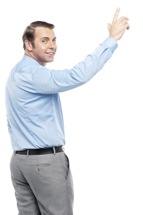Men Pointing Up PNG