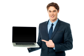 Men With Laptop PNG