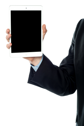 Men With Tablet PNG