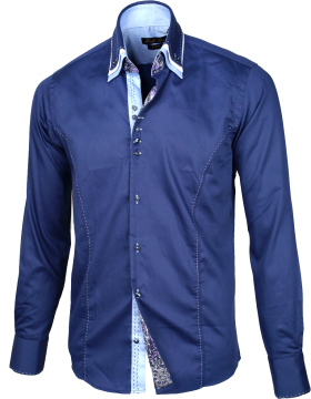 Men's Stylish Shirt Blue PNG