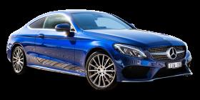 Mercedes Benz C Class Blue Car PNG