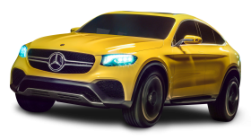 Mercedes Benz GLC Coupe Yellow Car PNG