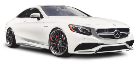 Mercedes Benz S63 AMG White Car PNG