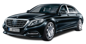 Mercedes Maybach S600 Black Car PNG