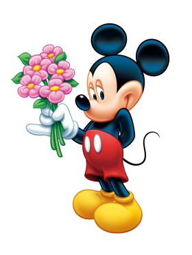 Mickey Mouse  Flower PNG