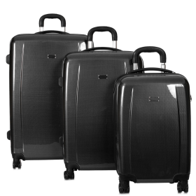 Mline 3p Carbon Black Luggage PNG