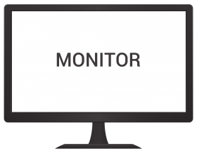 Monitor Vector PNG