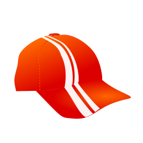 Netalloy Cap With Racing Stripe PNG