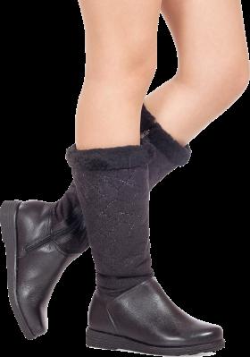Nice Black Leather Ladies Boot PNG