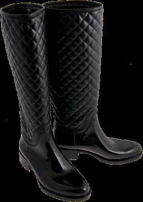 Nice Long Black Boot PNG
