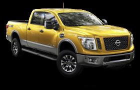 Nissan Titan XD Golden Color Car PNG