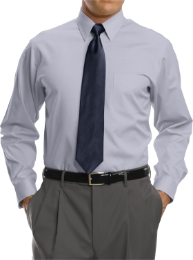 Of White Full Sleeve Shirt With BlackTie PNG
