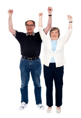 Old Couple PNG