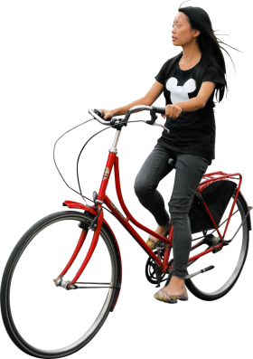 On Her Bike PNG