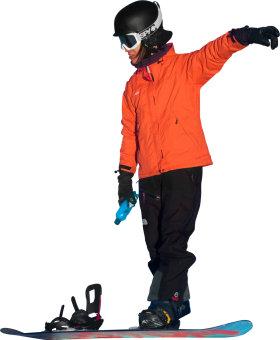 On Snowboard In Oslo Winter Park PNG