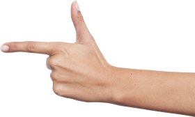 One Finger Hand PNG