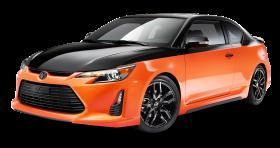 Orange and Black Scion tC Sports Car PNG